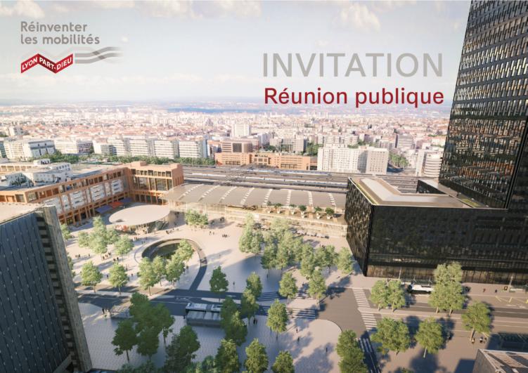 Réunion publique réaménagement du Pôle d'échanges Lyon Part-Dieu