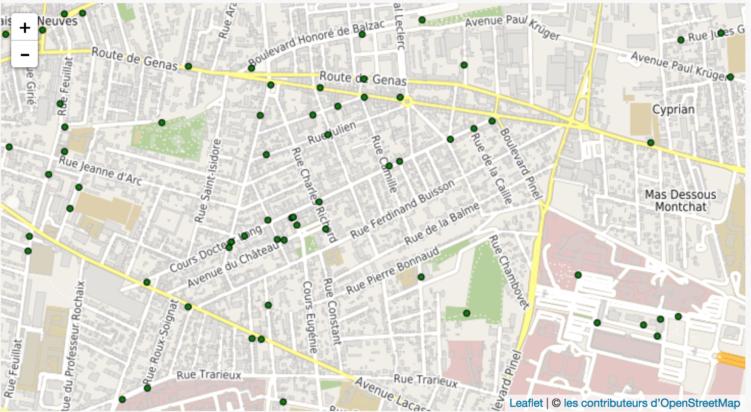 Lyon Montchat : Concertation Déploiement d'arceaux à vélos