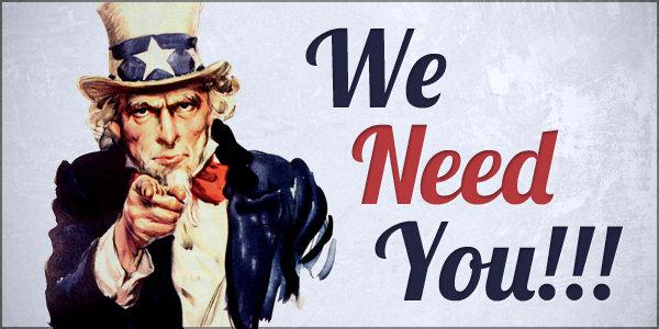 Nous avons besoin de vous !