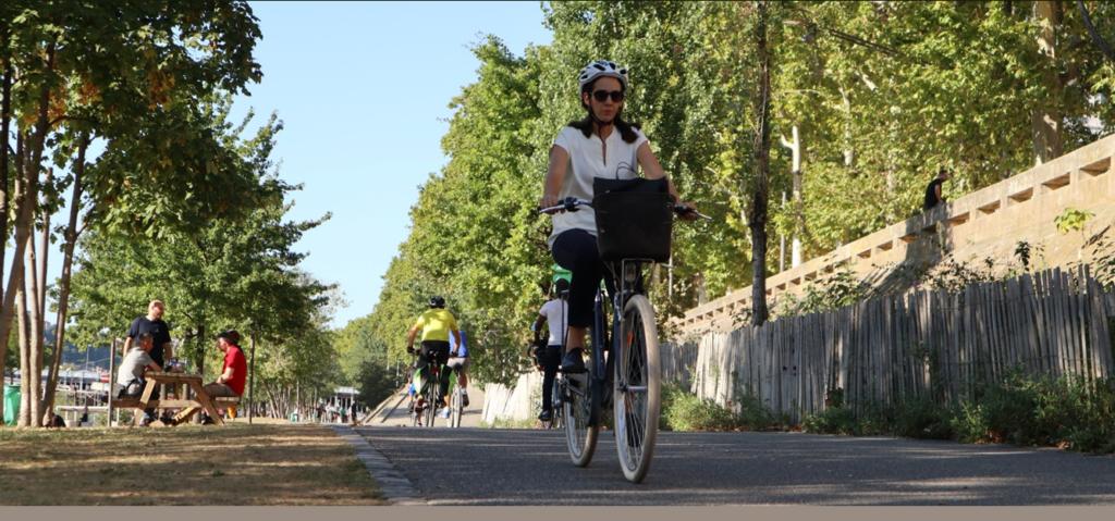 Cyclistes Quais du Rhône (Lyon)