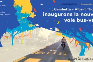 Gambetta - Albert Thomas : Inaugurons la nouvelle voie bus-vélo !