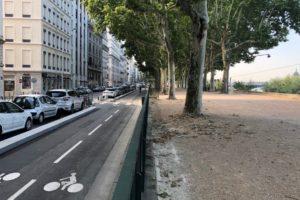 Le quai Sarrail, premier boulevard cyclable de Lyon !