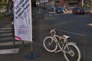 Accident corporel à vélo