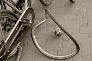 Accident matériel à vélo