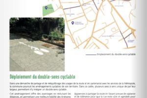 La mairie de Champagne communique pour le vélo!